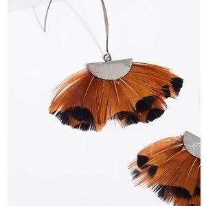 FREE PEOPLE x SEREFINA   Feather Fan Earrings